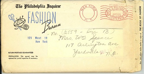 Fashion Bureau 2559 envelope