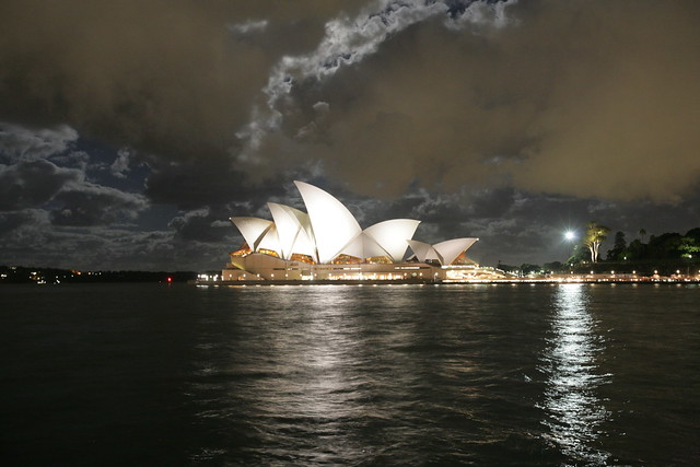 Full moon over Opera House Sydney