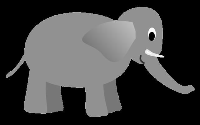gray elephant free clip art - photo #22