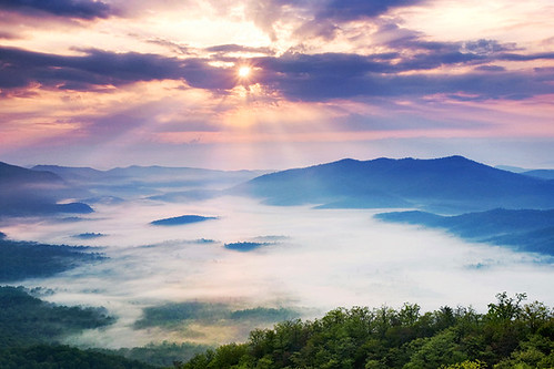 Pisgah Sunrise -- Blue Ridge Parkway, NC