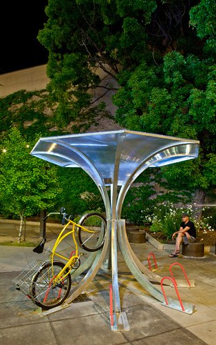BikeArc bicycle rack with bicycle
