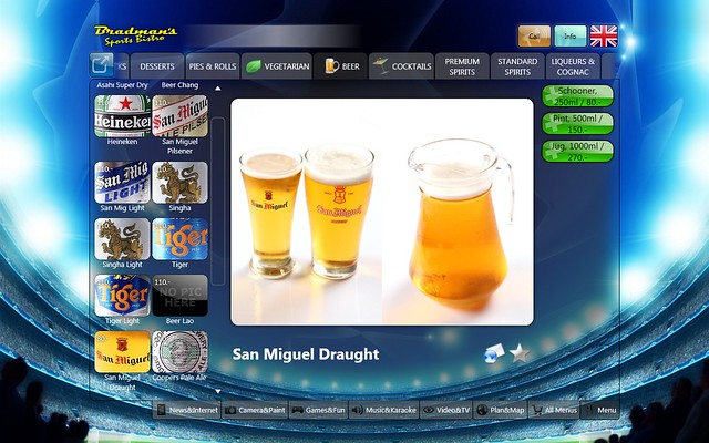 issimenu beer selection