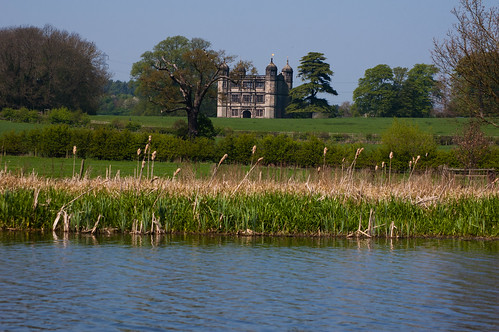 Tixall gatehouse from canal lake