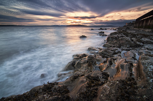seattle sunset sea seascape beach water clouds washington sand rocks shore alki pugetsound