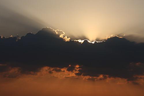 Sunset clouds at Szekrényes-hill