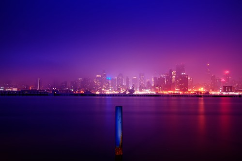 city nyc newyorkcity longexposure mist ny newyork reflection fog skyline geotagged dawn newjersey cityscape timessquare esb bankofamerica hudsonriver empirestatebuilding gothamist chryslerbuilding piling hdr hoboken newyorktimes barclay weehawken portimperial unionhill mudpig stevekelley