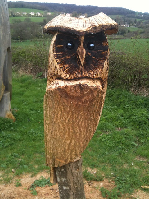 Owl chainsaw carving flickr photo sharing