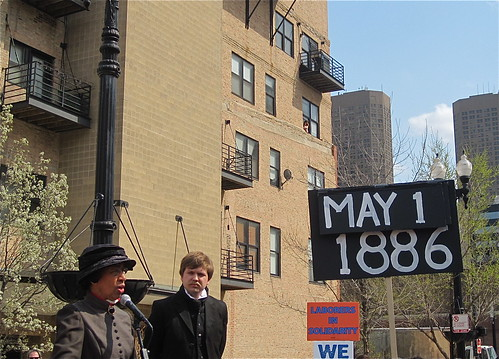 May Day 2011:Re-enactment of Haymarket on the 125th Anniversary (photo: chicagogeek/flickr)