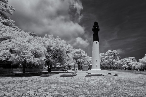 ir photo blackwhite lighthouses southcarolina infrared huntingisland huntingislandstatepark lifepixel michaelpancierphotography