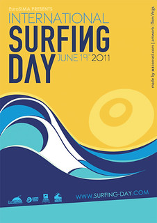 Joy for having created the poster art of Surfing Day 2011