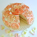 Shabby Chic Rose Cake-Sliced
