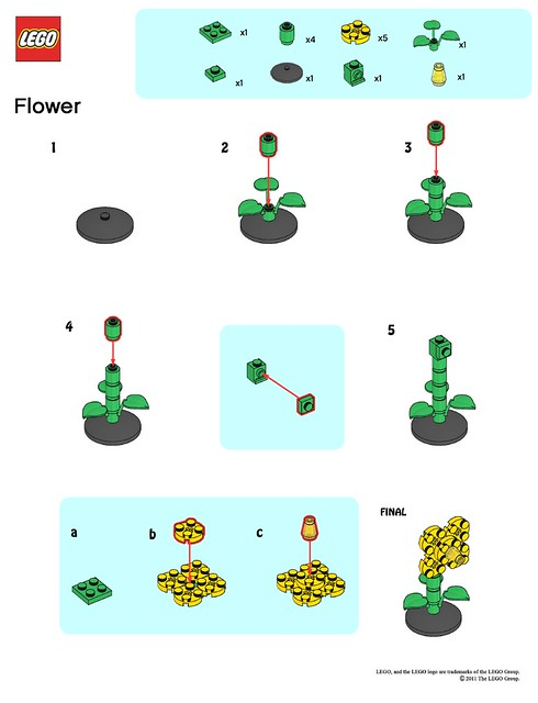Lego Store Mmmb May 11 Flower Instructions Flickr