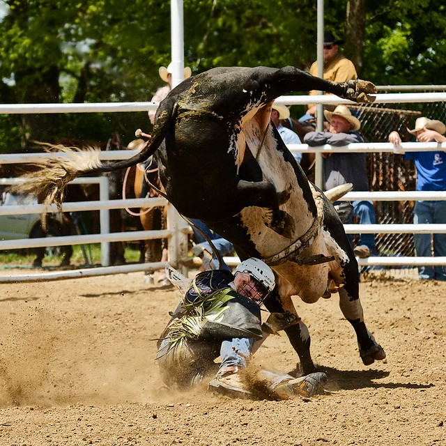 Ashland High School Rodeo 2011 - Between a rock and a hard place