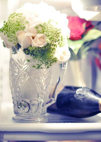 DIY White Roses and Peonies   wedding boquet in the fridge