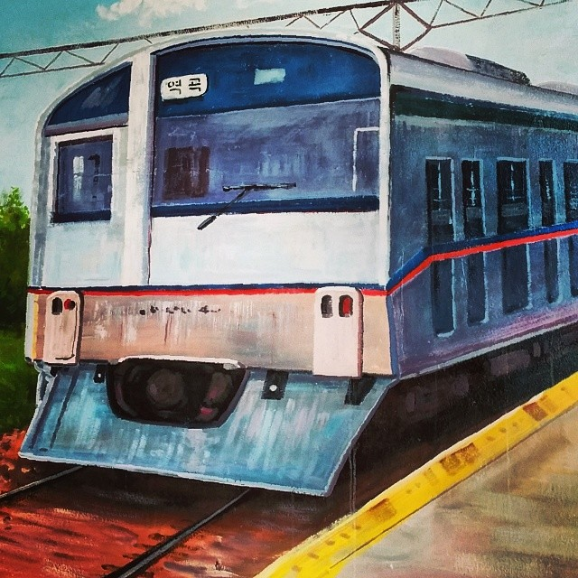 #Incheon #train #painting at #Yeokgok #station