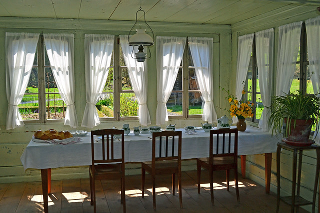 Swiss cottage interior