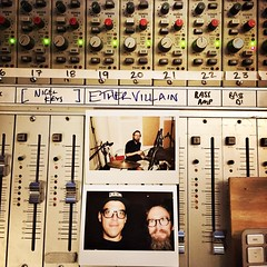 First day recording very dear friend, and Denton musical treasure, Robert Gomez. The band is @ethervillain. Evan Jacobs and Marion Powers will join us later in the week. I'm pumped. Yeah. #echolab #mattpencerecording #ethervillain