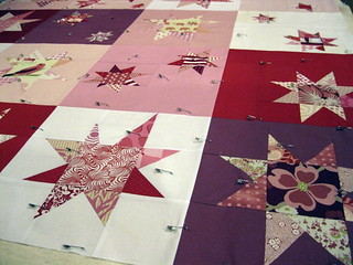 Love in Wonky Stars - basted.