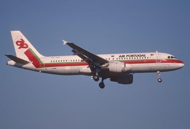 86cb - TAP - Air Portugal Airbus A320-211; CS-TNC@ZRH;28.02.2000