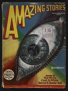 Frank R Paul, April 1928 'Eye' cover for Amazing Stories