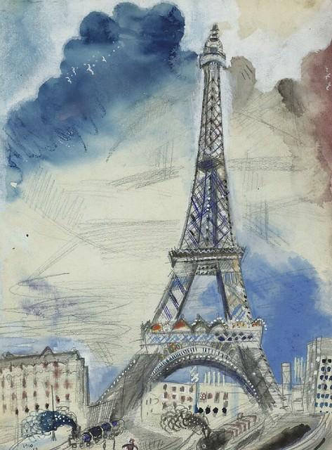 C marc chagall la tour eiffel 1910 this for Marc chagall paris vu de ma fenetre
