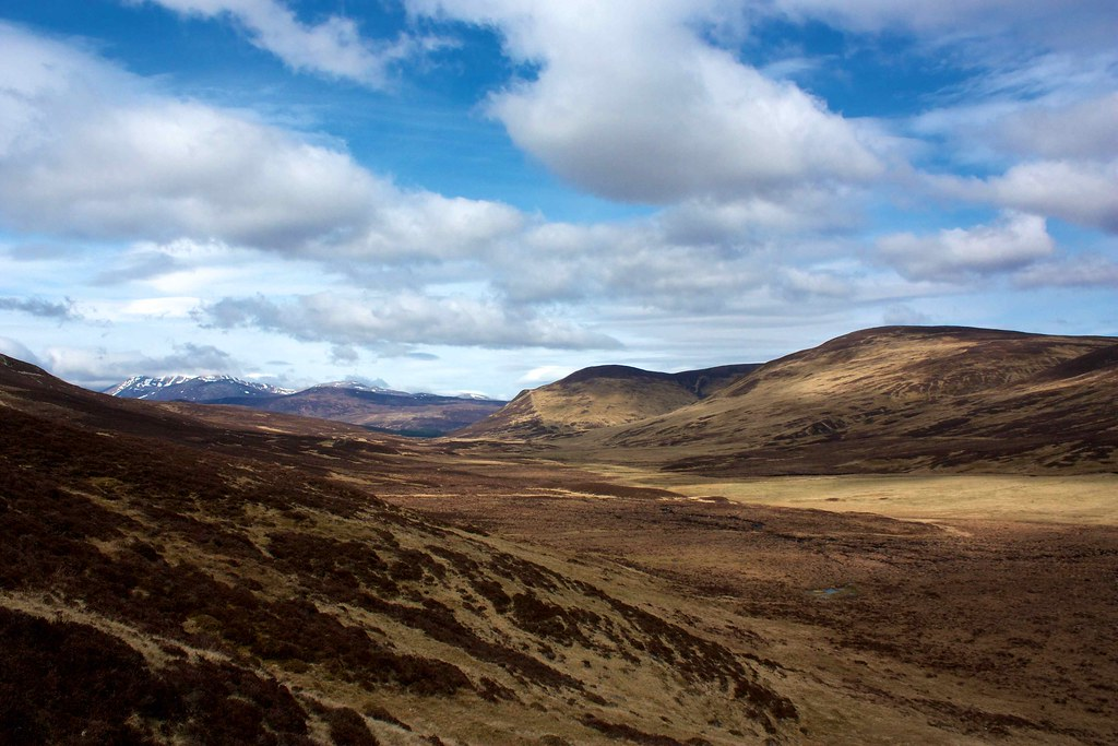 North towards the Cairngorms