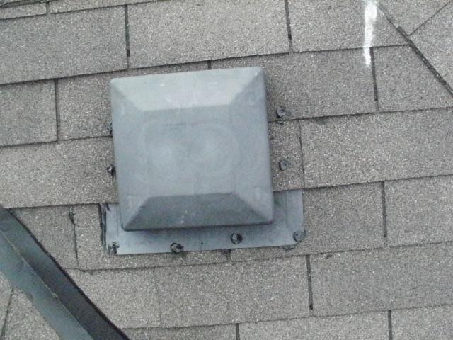 Shingle repair vent leak repair mr roof repair - Roof air vent leaking water ...