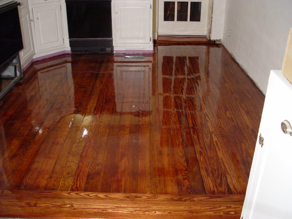 Hardwood Floor Matching Part - 26: Floor Refinishing, Matching Old And New - Our Kitchen Disaster Part 4 - Old  Town Home