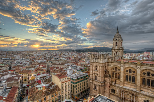 View of the city of Malaga – Vista de la ciudad de Málaga (Spain), HDR