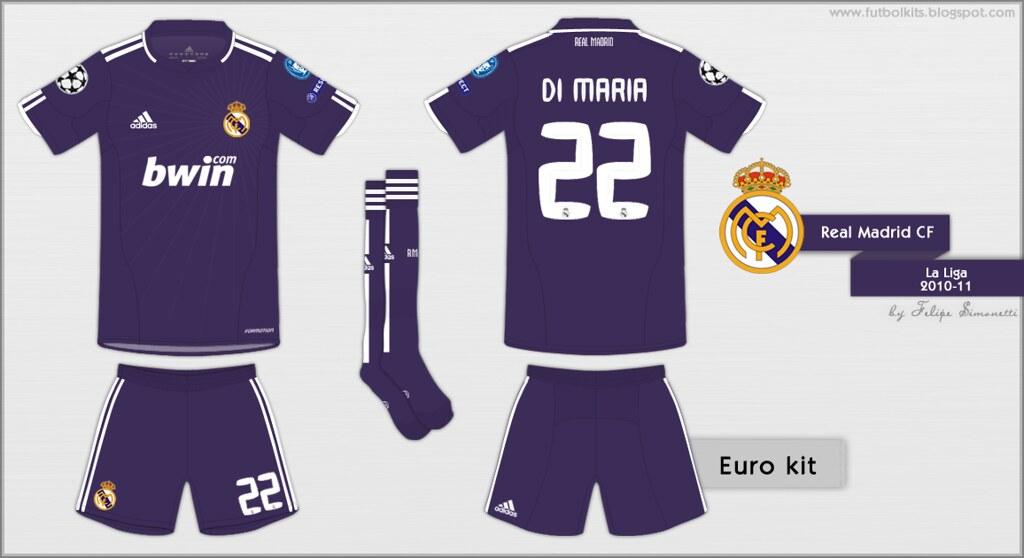 e3cd93aae Real Madrid CF - Champions League 2010 11 away kit