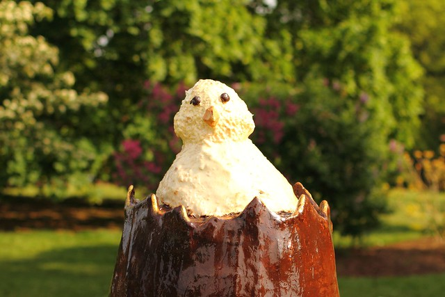 Easter Chick Sculpture at Kew Gardens