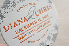 Snowflake Save the Date Coasters