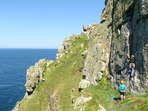 Zennor Cliff on a sunny day in Spring