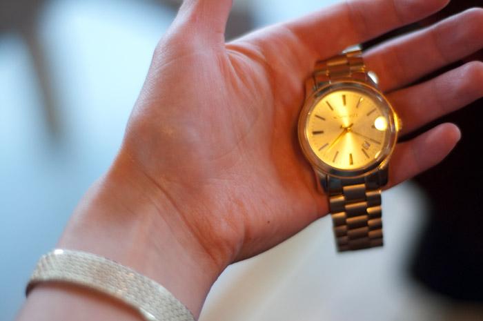larry's watch.