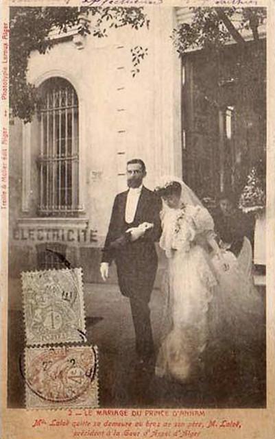 ALGERIE 1904 - Le mariage du Prince d'Annam