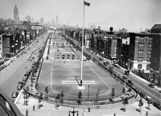 Sara D Roosevelt Park looking north circa 1930's