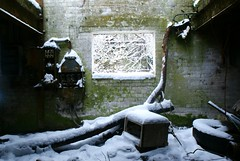 Harefield Limeworks in the snow