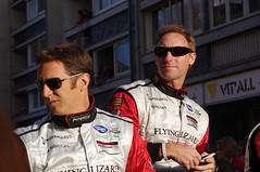 Spencer Pumpelly and Darren Law Drivers of Flying Lizard Motorsport's Porsche 997 GT3 RSR