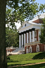 Front of The Rotunda, University of Virginia