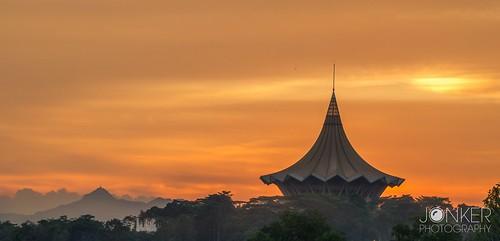 Sunset at Kuching, Borneo
