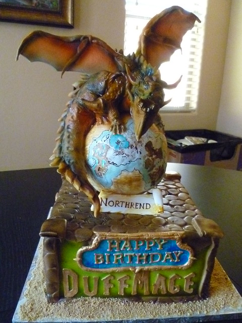 wow cake wow cake made by jay from kak kickasskakes com deathwing ...