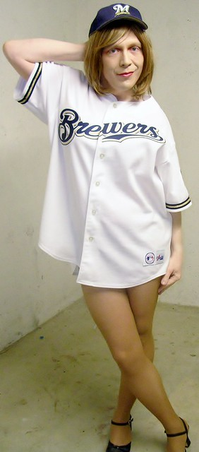 Brewers jersey... and just a little more leg