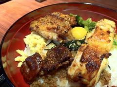 meal, pork chop, food, dish, cuisine, teriyaki, grilled food,