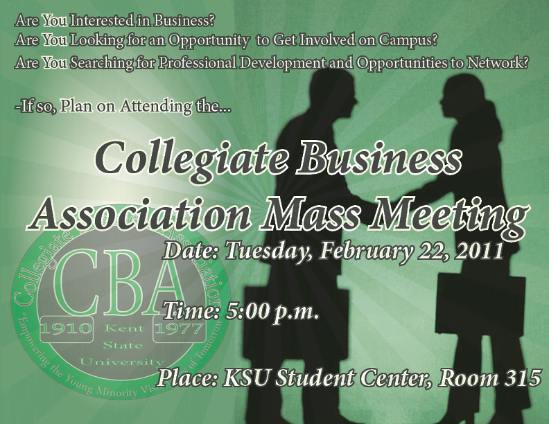 CBA Mass Meeting Flyer
