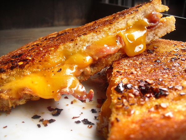 The Sinner | Grilled Sharp Cheddar Cheese with Natural Peanut Butter ...