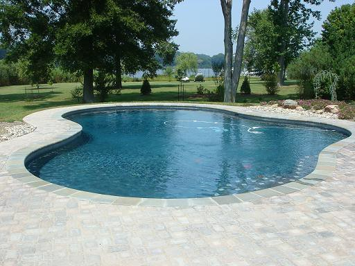 Gray plaster pool flickr photo sharing for Simple backyard pools