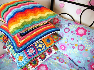 Crochet cushions - completed