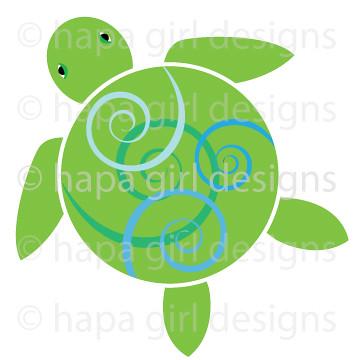 Hawaiian Sea Turtle Clip Art hawaiian sea turtle clipart