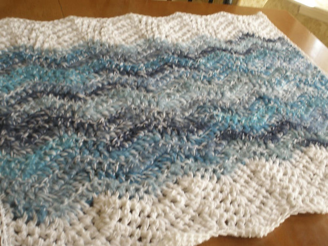 Ocean Wave Afghan and Whale 4 Flickr - Photo Sharing!