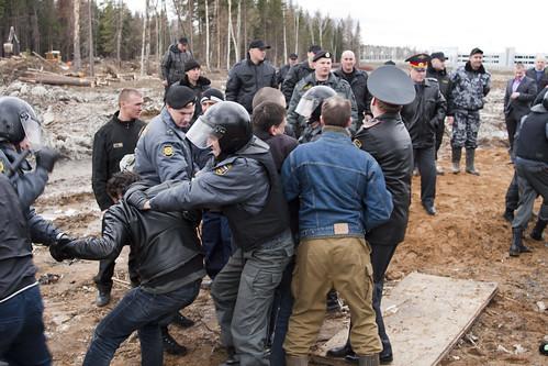 Arrest of activists